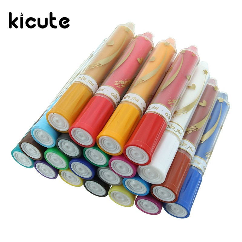 Kicute 24 Colors Face Painting Crayon Pencils Splicing Structure Face Paint Crayon Body Painting Pen Stick For Children Party stabilo 880 woody 3 in 1 multipurpose pencils water color pencils crayon brushes assorted color 6 18 colors