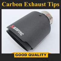 Free Shipping: 1 piece Universal Akrapovic Carbon Tip Exhaust Pipe End Pipes AK Carbon Exhaust Tips Muffler car accessories