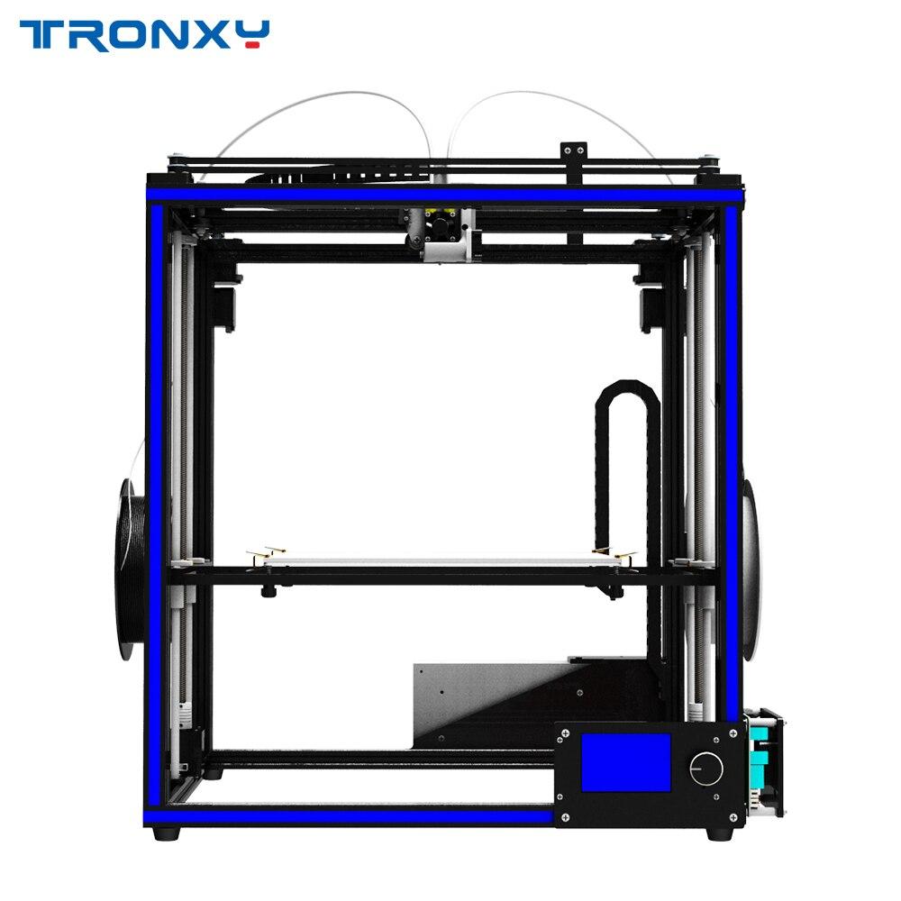 2018 Date Tronxy DIY 3D Imprimante X5ST-2E Mixte couleur Double Alimentation port 3d imprimante machine métal avec foyer livraison gratuite