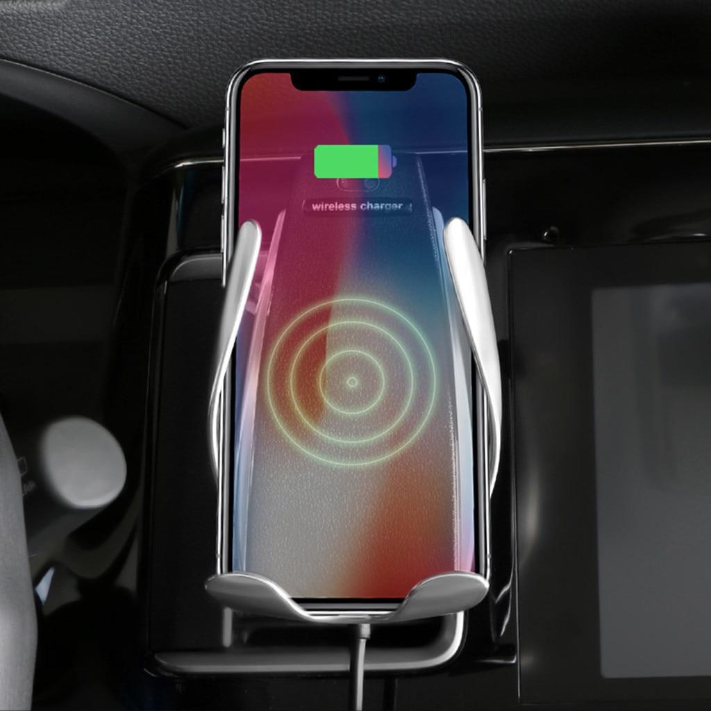 Qi voiture téléphone sans fil voiture chargeur support ventilé Mobile pour Iphone Xs/Xs Max Qi chargeur sans fil chargeur rapide universel