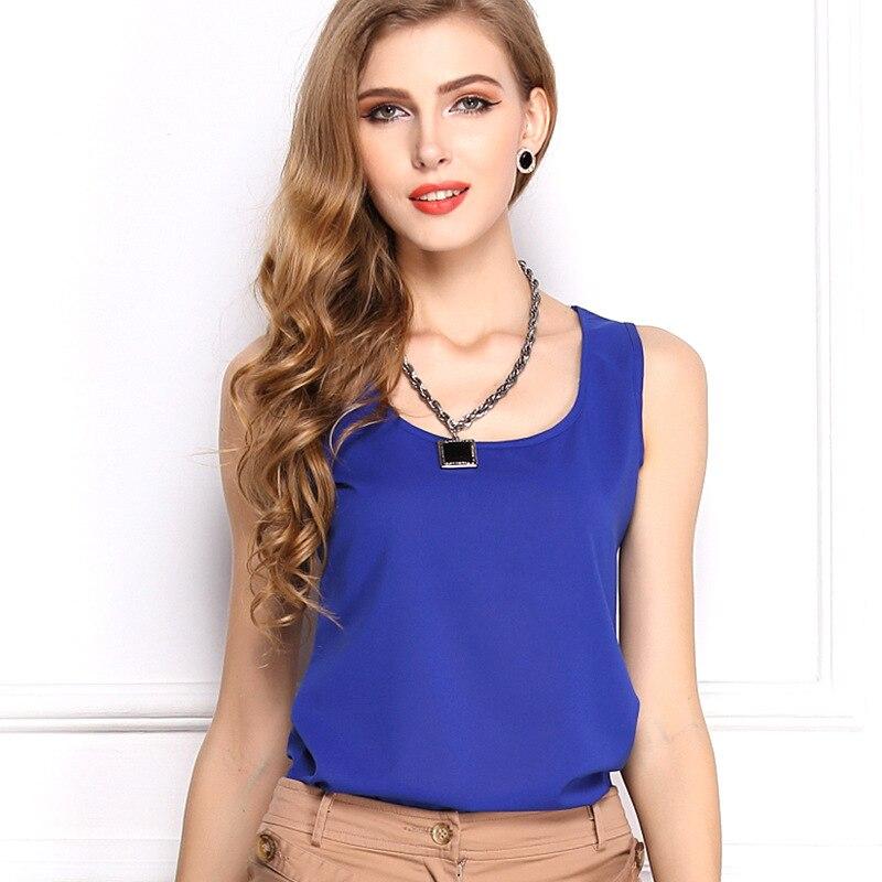 Buy Cheap Blouse Aliexpress Blusa Feminino European Womens Blouses Large Size Printing Sleeveless Vest Chiffon Loose Shirt Vestidos Lh006 Women's Clothing