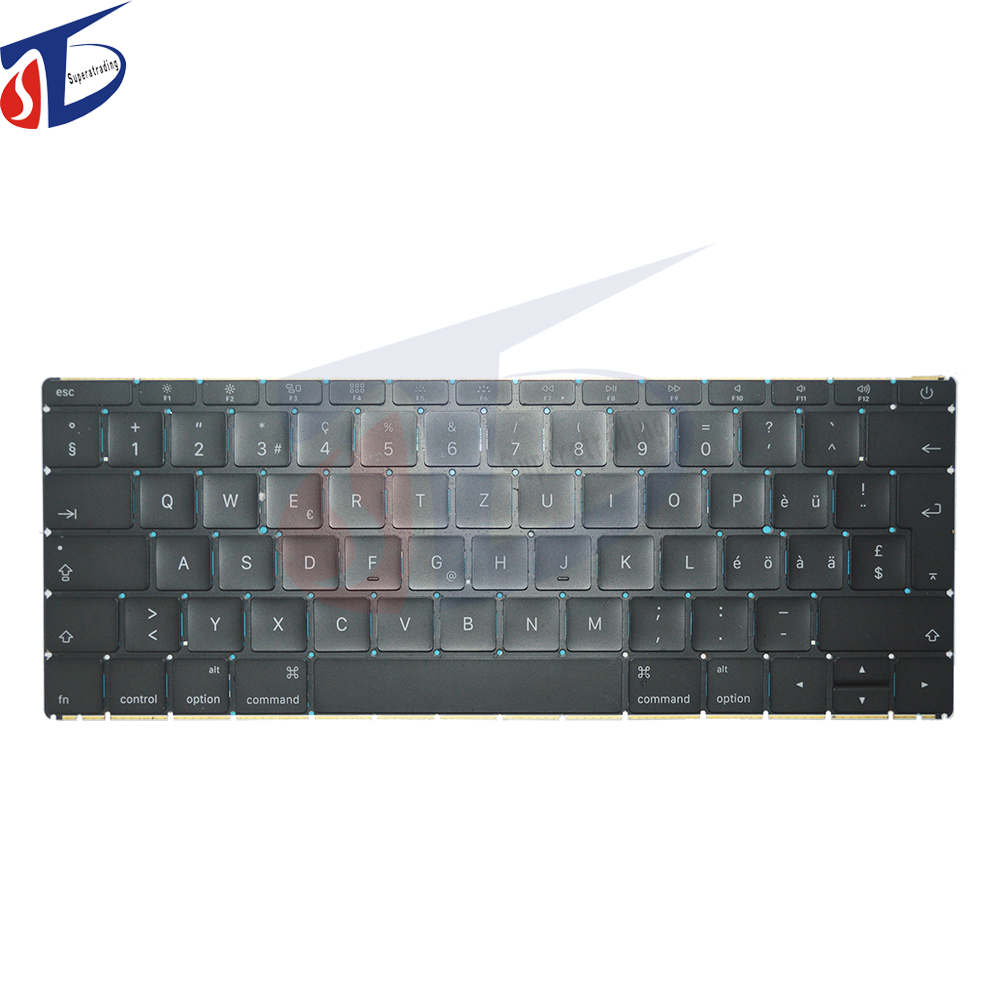 Perfect testing Brand New CH Switzerland keyboard for Apple Macbook Pro Retina 12'' A1534 Swiss Suisse Keyboard 2015 2016 year image