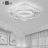 BWART шестиугольник современный led Люстра для гостиной спальня столовая алюминиевый корпус закрытый потолочный Люстра лампы освещения