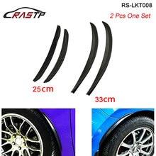 2Pcs/set Carbon Fiber Fender Flares Arch Wheel Eyebrows Protector Mudguards Sticker Universal 25CM 33CM LKT008 цена и фото
