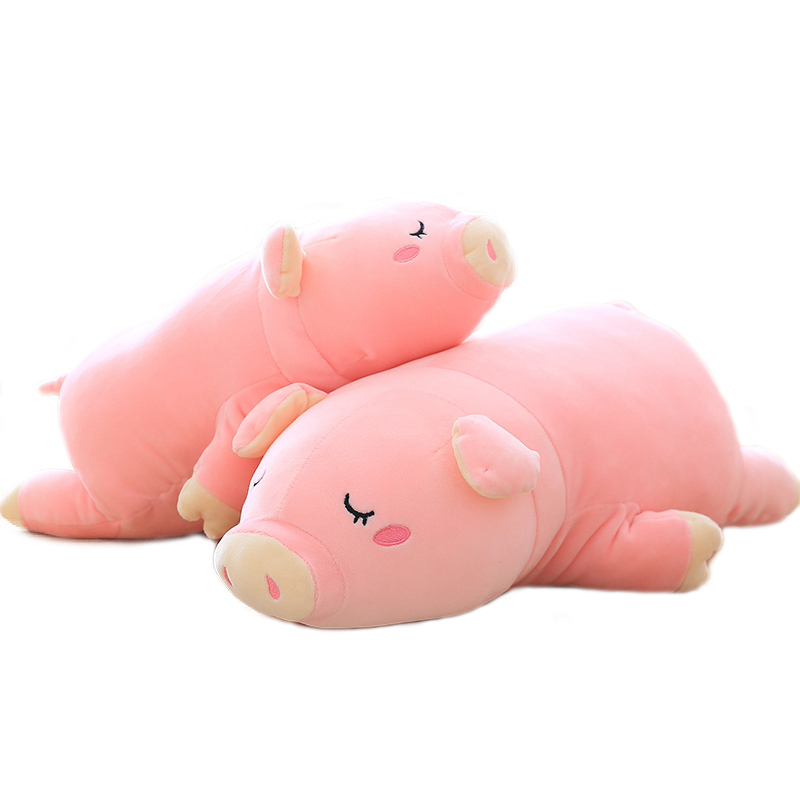 1pc 30cm Lovely Sleeping Pig Plush Toys Soft Stuffed Animals Pink Piggy Plush Dolls Pillow For Children Girls Gifts