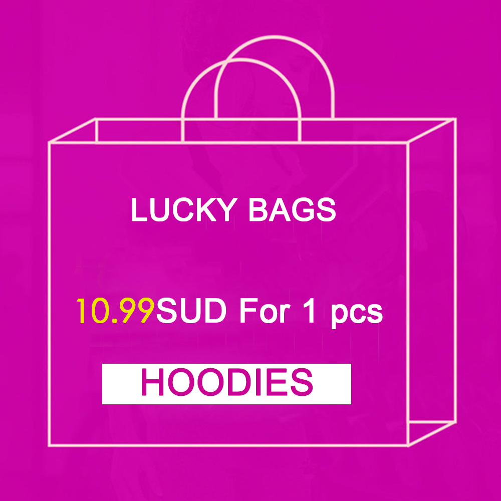 NADANBAO 1PCS Big Surprise Printed Women Hoodies Hiphop Style Hoodie Lucky Bags New Year Gift M-XXL Swearshirt Send Randomly