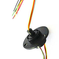 12 5mm 300Rpm 6 Wires CIRCUITSx2A Capsule Slip Ring AC 240V For Monitor Robotic