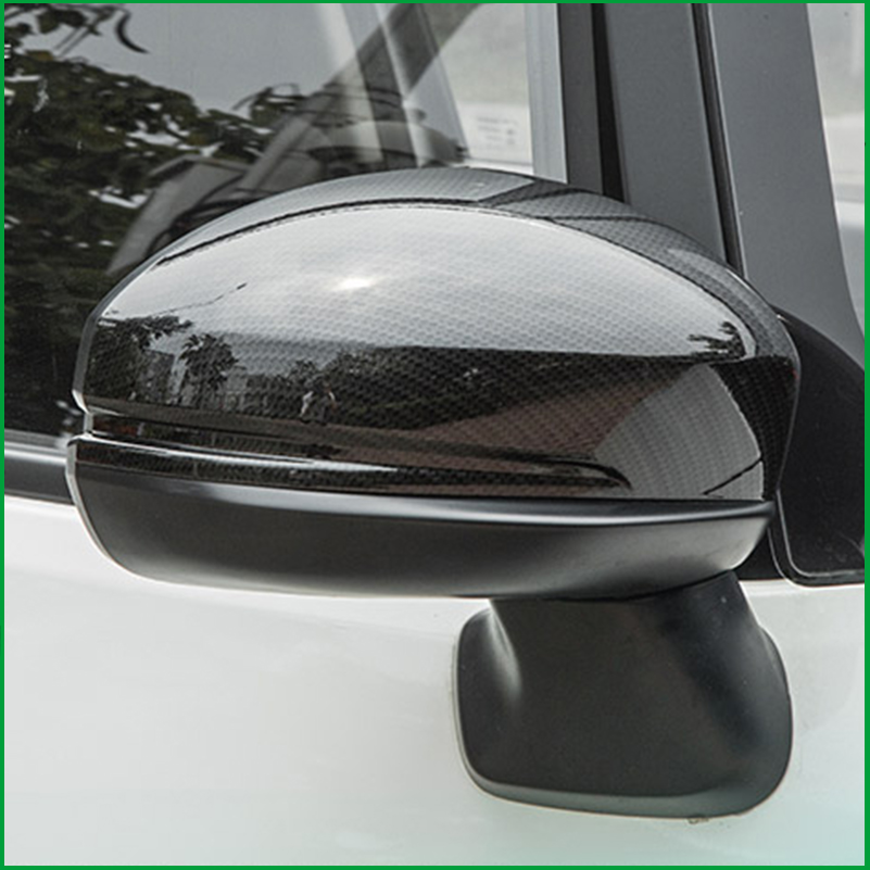 FOR Honda Fit GK5 Jazz 2014 2017 ABS Carbon fibre Print REAR SIDE VIEW WING REARVIEW MIRROR