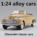 1:24 alloy cars,high simulation model Chevrolet classic cars,metal diecasts,coasting,the children's toy vehicles,free shipping