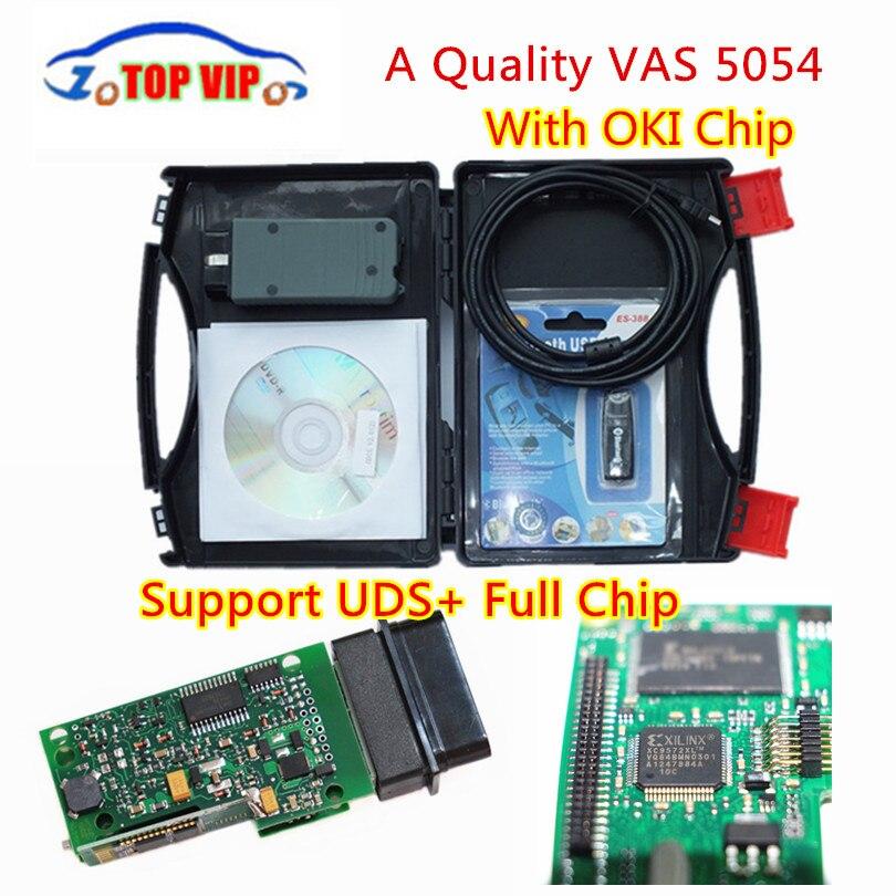 2018 Haute Qualité VAS 5054A Plein Puce VAS5054A Plus Stable Bluetooth Avec OKI Soutien UDS OBD2 Scanner Voiture Diagnotic-outil