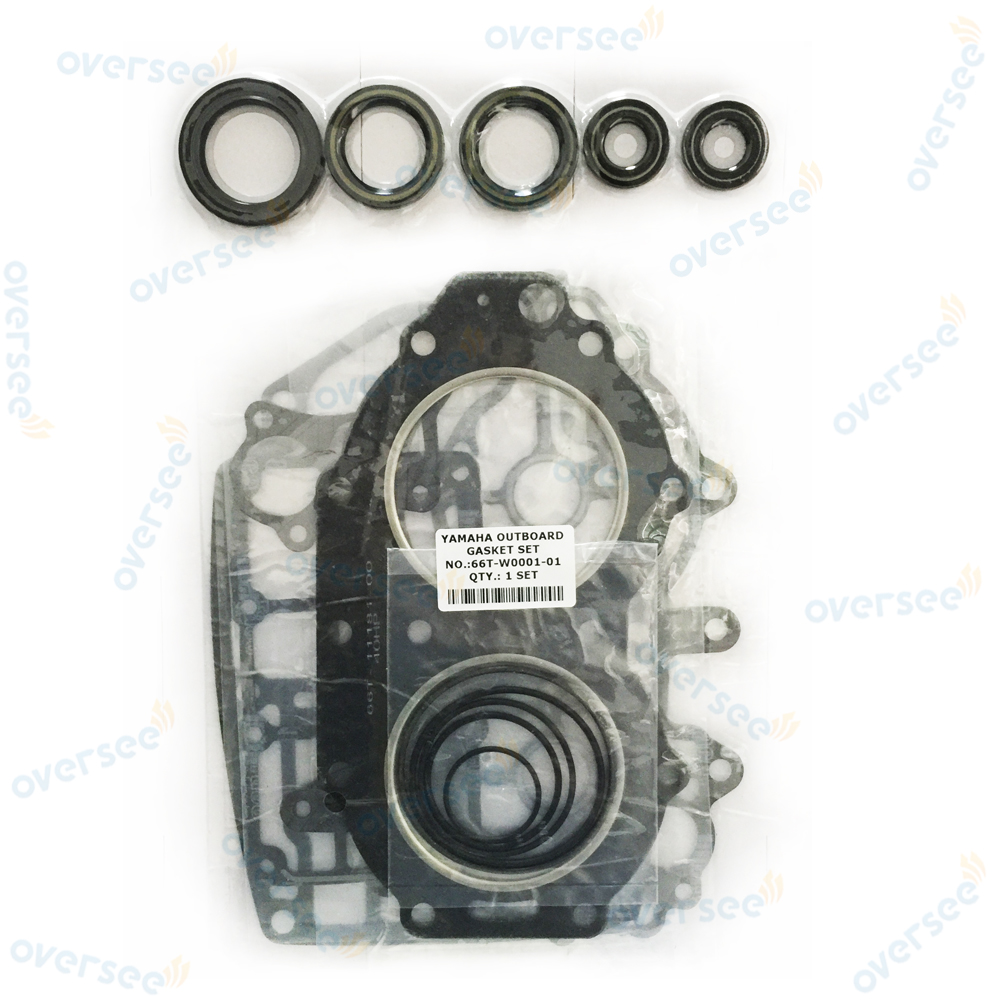 OVERSEE 66T W0001 01 40HP 2 Stroke 2 Cylinder 1998 Powerhead Gasket seal kit For Yamaha