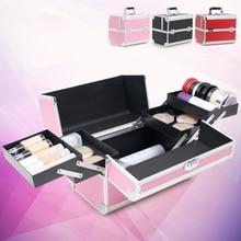 Косметичка чемоданы для косметики большой ёмкость для женщин Путешествия Макияж сумки портативный Professional Box Маникюр косметологии Cas