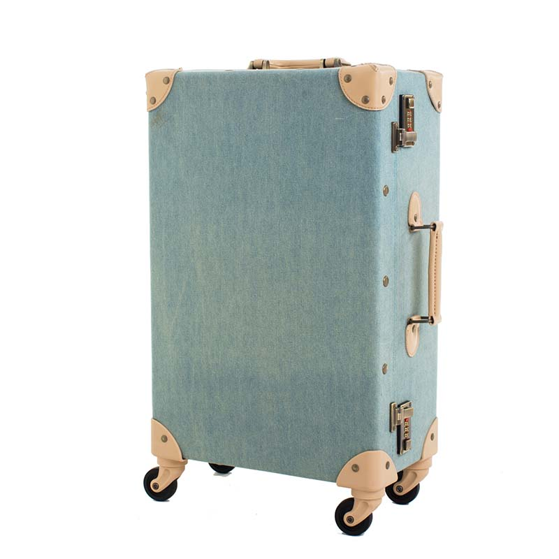 BeaSumore Waterproof Retro Oxford Rolling Luggage Spinner Cabin Trolley Suitcase Wheels Women Travel bag Men Trunk