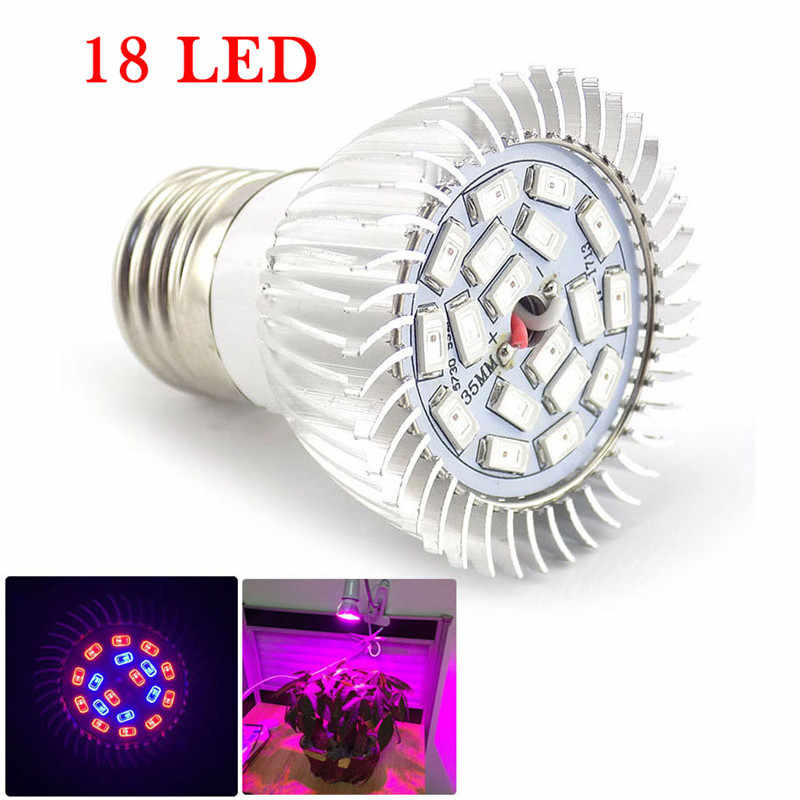 60/200 LED Plant Grow Light Bulbs E27 Lamp For Seeds Flower Greenhouse Vegetable Growing Hydroponics Room Indoor Plants Growth