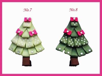 Новинка года; сезон весна-лето; высокое качество; лента из корсажа/кружевной принт; Детские аксессуары для волос; 20 шт.; Рождественская елка;