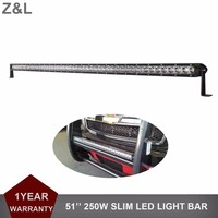 51 250W LED Light Bar 12v 24v Car Truck SUV ATV Pickup Camper Trailer Wagon ATV 4X4 4WD Offroad Bumper Auxiliary Driving Lamp