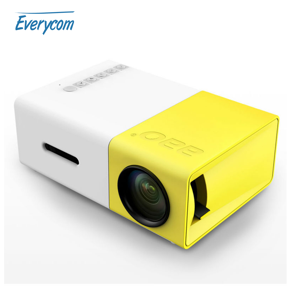 Mini pico projector portable pocket beamer yg300 video for Pocket movie projector