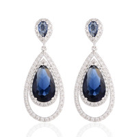 GrayBirds New Trend Dressed Wedding Drop Shape AAA Cubic Zircon Drop Earrings For Women Big Stone Blue Color CVE020