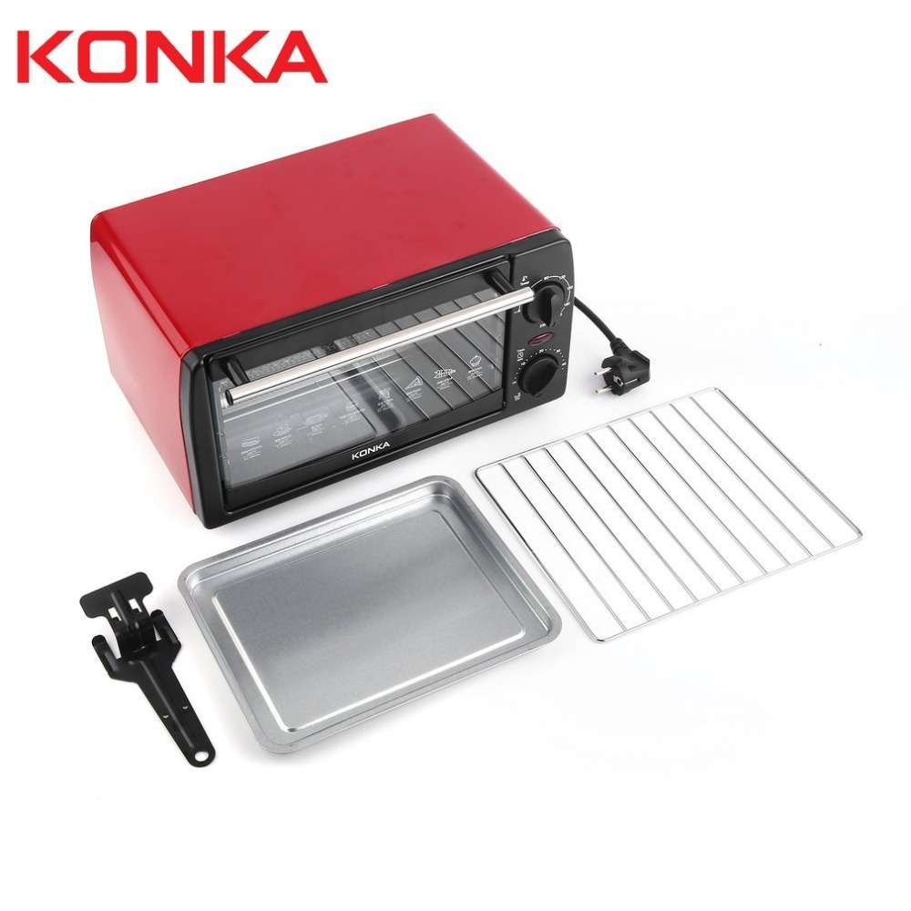 Electric Oven Household Multifunctional 12L Mini Galvanized Sheet Baking Oven KAO-1202 1050W With Bakeware стоимость
