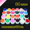24 Colors UV Gel Nail Tips Pure Fine Shiny Cover French Manicure Set Hot Selling