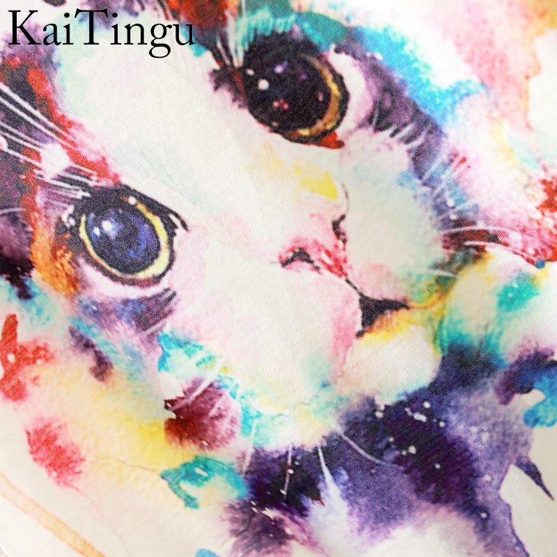 HTB15Vh4LpXXXXbWXXXXq6xXFXXX6 - New Fashion Summer Animal Cat Print Shirt O-Neck Short Sleeve T Shirt