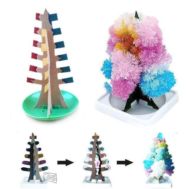 1pc Growing Paper Christmas Tree Flowering Tree Paper Sculpture  - Magic Christmas Tree