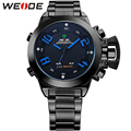 WEIDE Famous Brand Watches Men Quartz Digital Dual Movement Multi-Functional Auto Date LED Back Light Alarm New With Tags Watch