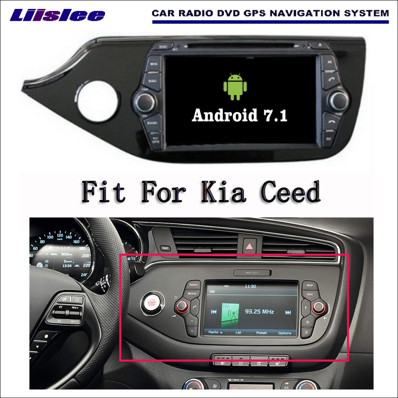 Liislee Android 7.1 2G RAM For Kia Ceed 2012 Car Radio Audio Video Multimedia DVD Player WIFI DVR GPS Navi Navigation