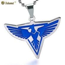 Bahamut Red Alert Allied Army águila BadgeNecklace colgante de acero Titanium