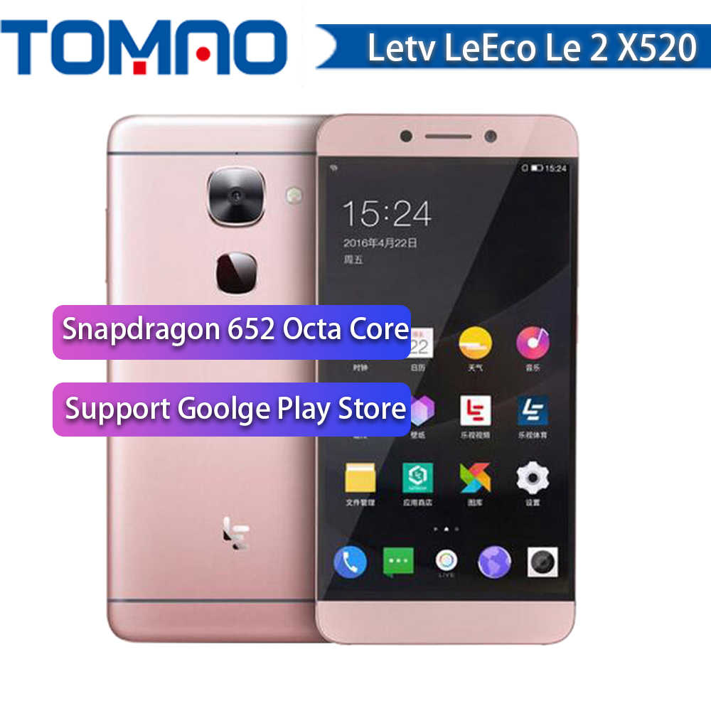 "Originale 5.5 ""Letv LeEco Le 2 X520 Telefono Cellulare Snapdragon 652 Octa Core Del Telefono Mobile 3GB 32GB 1920x1080 16MP Android Impronte Digitali"