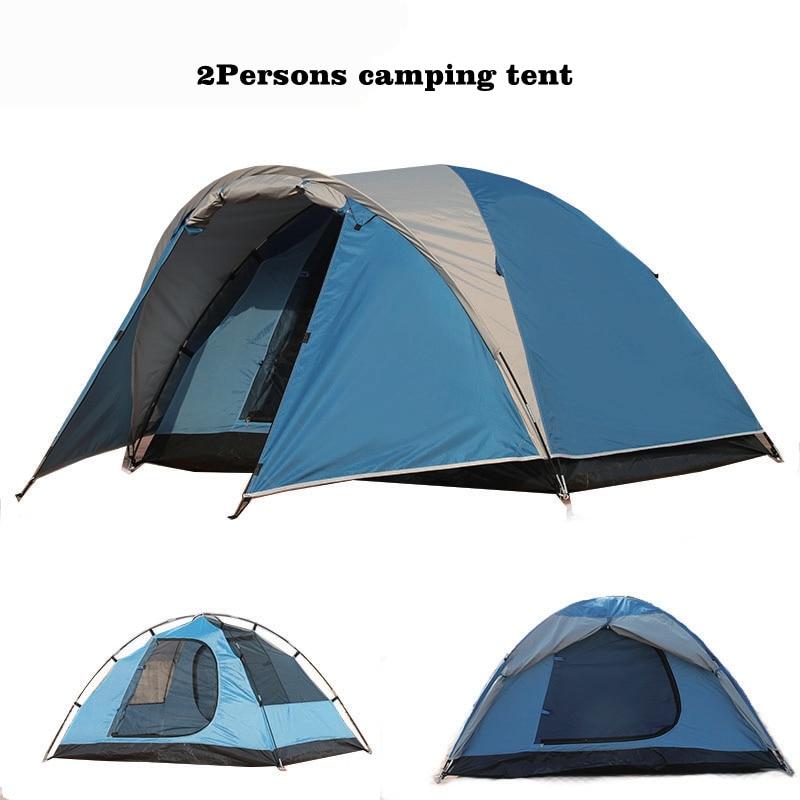 Водонепроницаемый двойной Слои 2 человек палатку снаружи Пеший туризм пляж палатка туристическая спальня путешествия 2018 Китай Barraca Tenda