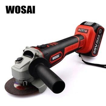 WOSAI amoladora de ángulo sin escobillas 20 V máquina de molienda de iones de litio amoladora eléctrica inalámbrica herramientas de pulido
