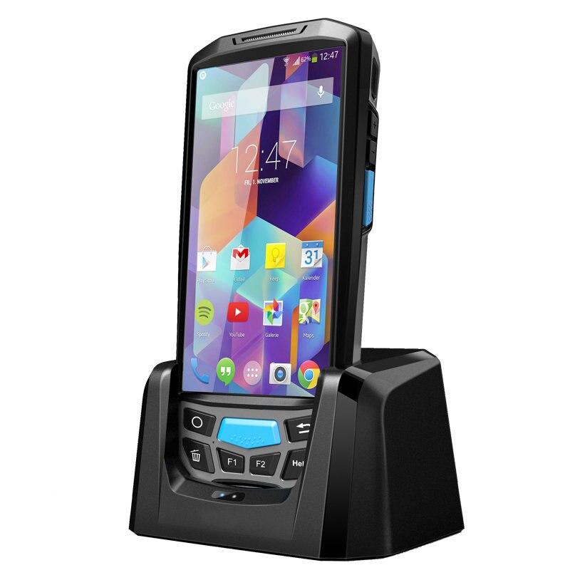 Android 7.0 4G Ordinateur De Poche POS Imprimante Terminal De Données Wifi Bluetooth UHF NFC Lecteur RFID PDA Barcode Scanner avec affichage