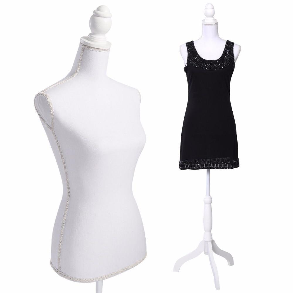 Stand Female Half-length Model Torso Fiberglass Lady Model for Clothing Display