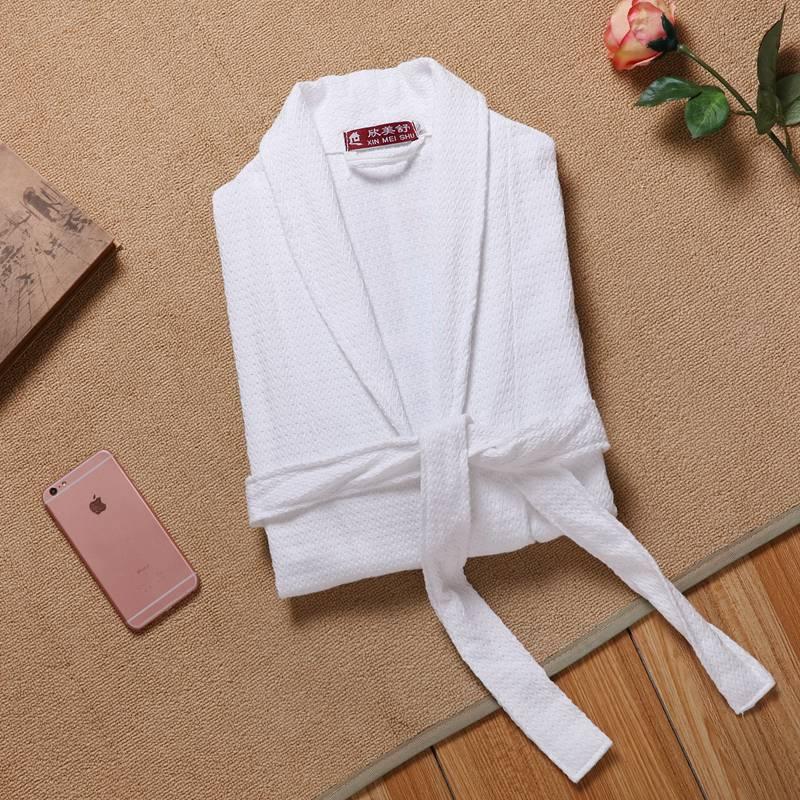 Men Robe Waffle Cotton Kimono Robe Nightwear Kimono Sleepwear Nightgown Dressing Bathrobe Dressing Gown Plus Size XXL Summer