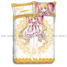 Fancy Yellow 4pcs Rewrite Bedding Set Nakatsu Shizuru Duvet Cover Nakatsu Shizuru Bed Sheet Rewrite Comforter Fancy 4pcs