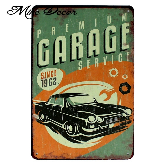 Garage My Tools Rules Metal Poster Plaque Room Art Painting Antique Pub Tin Sign 20×30 Cm