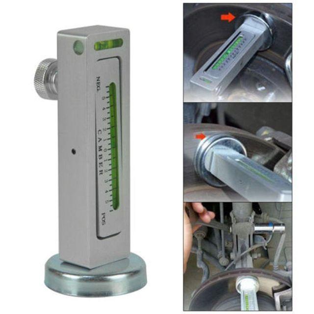 Herramienta de calibre magnético Universal para coche camión Camber Castor puntal de alineación de ruedas herramientas de medición de ángulo de Auto estilo de coche (blanco)
