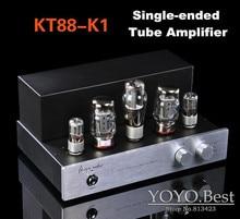 AIQIN  Hifi Stereo KT88-K1 Tube Amplifier Single-ended 2.0 Channel Power AMP DIY 15W*2 For CD Handmade Traditional Scaffolding