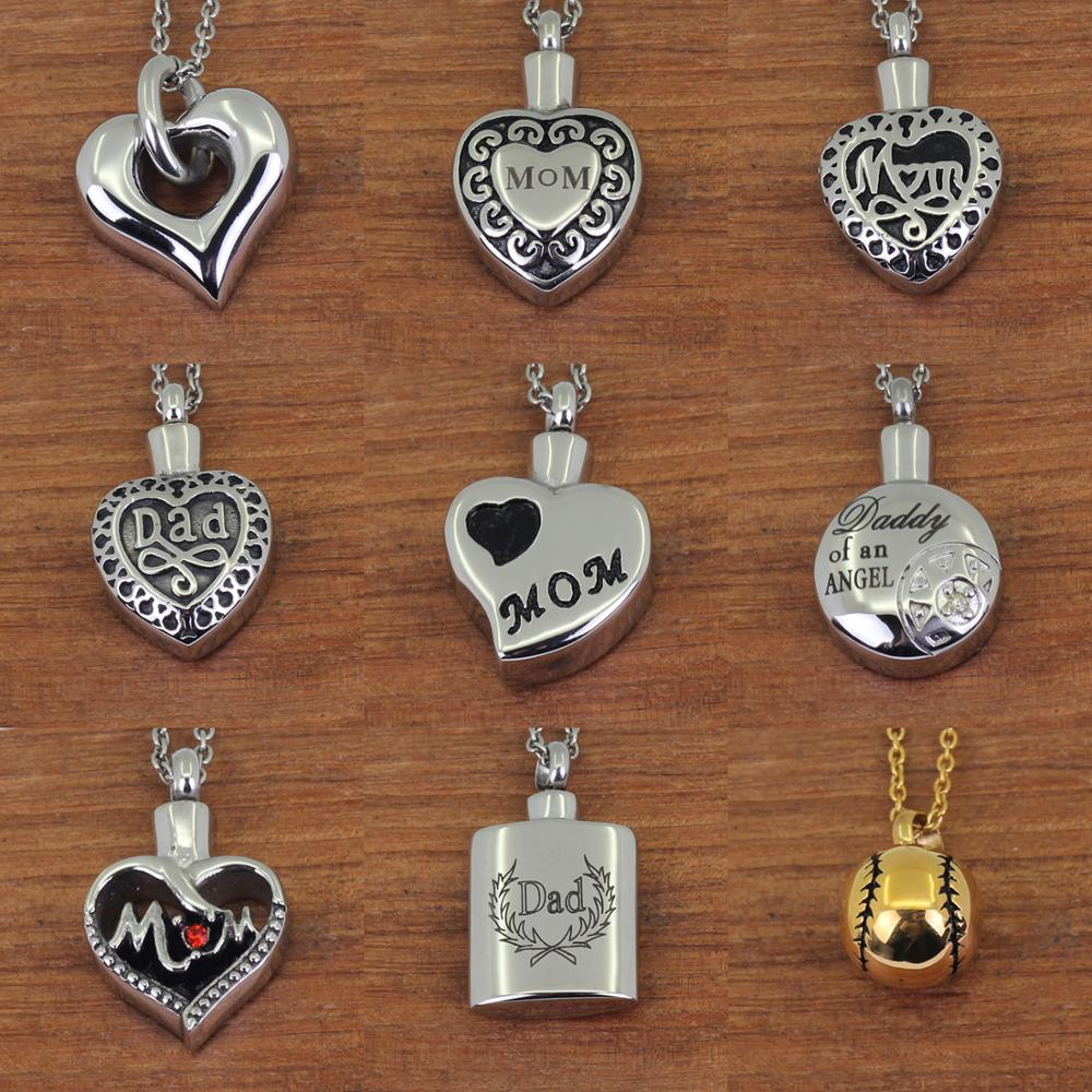 Heart Shape Stainless Steel Cremation Ash Urn Charms//Pendants Necklace Jewelry