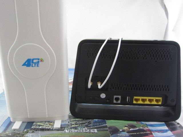 SET of Unlocked HUAWEI B890 4G Router LTE & Dual 49dBi Antenna 3G & 4G