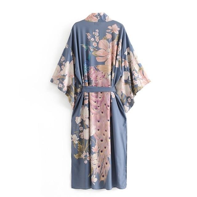 Flower Print Kimono Shirt  4