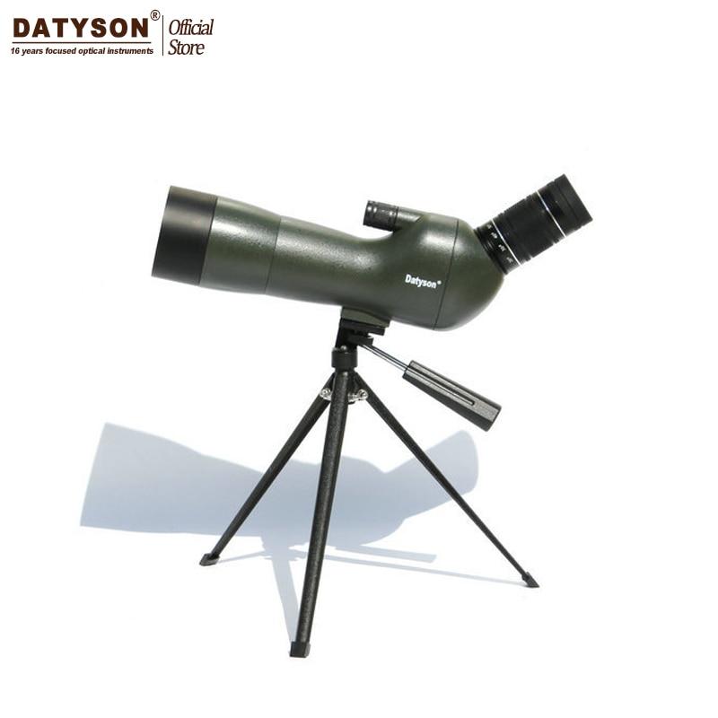 Datyson 20-60x60AE Waterproof Angled Spotting Scope with Tripod Optics Zoom Outdoor Viewing Bird Watching Telescope Army Green