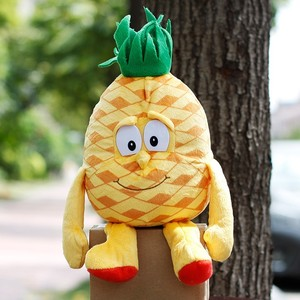 """Hot Multiple Styles Selected New Fruits Vegetables pineapple Cherry blueberry Starwberry 9"""" Soft Plush Doll Toy Object photo(China)"""