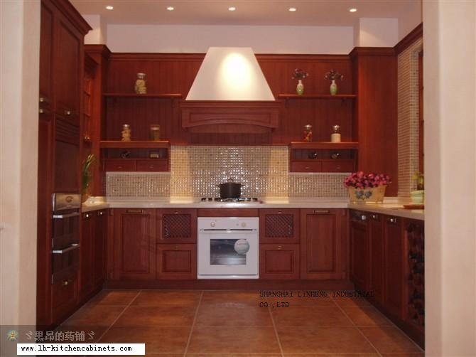 European style wood cabinets for kitchen (LH-SW026) ...
