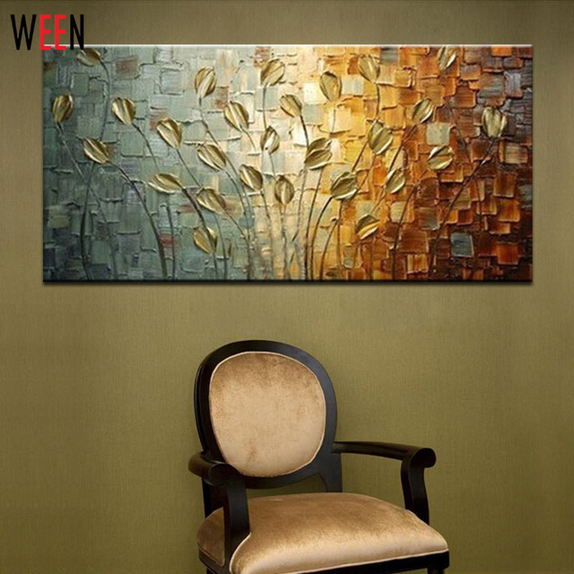 100 Handmade Abstract Oil Painting Tableaux Sur Toile Modern Canvas