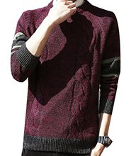 Men's Warm Long Sleeve Pullover Blouse Sweater  Autumn Winter for man Sweater Long Sleeve