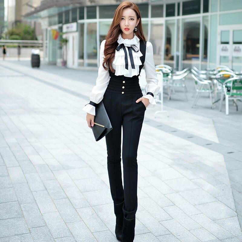 Original New 2016 Brand Autumn and Winter Romper Slim Fashion Vintage High-Waisted Black Pencil Jumper Women Plus Size Wholesale