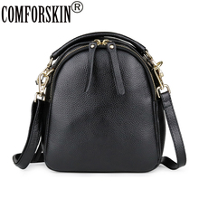COMFROSKIN New Arrivals 100% Genuine Leather Womens Totes European And American Women Handbag Brand Cross-body Bag
