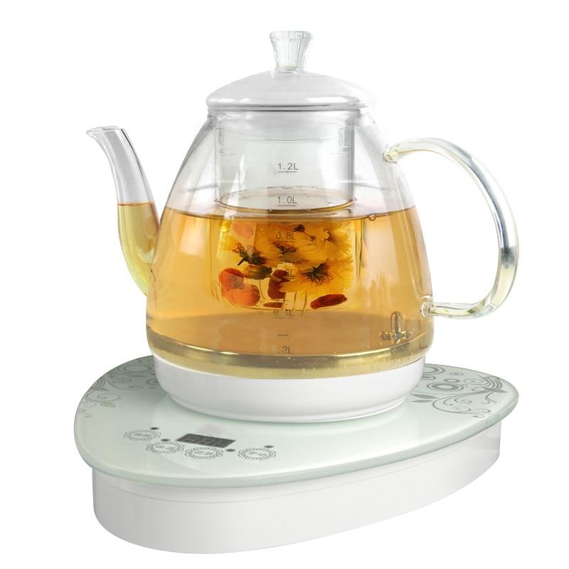 Electric kettle Glass raised pot split body electric kettle, fully automatic flower teapot boiled цены